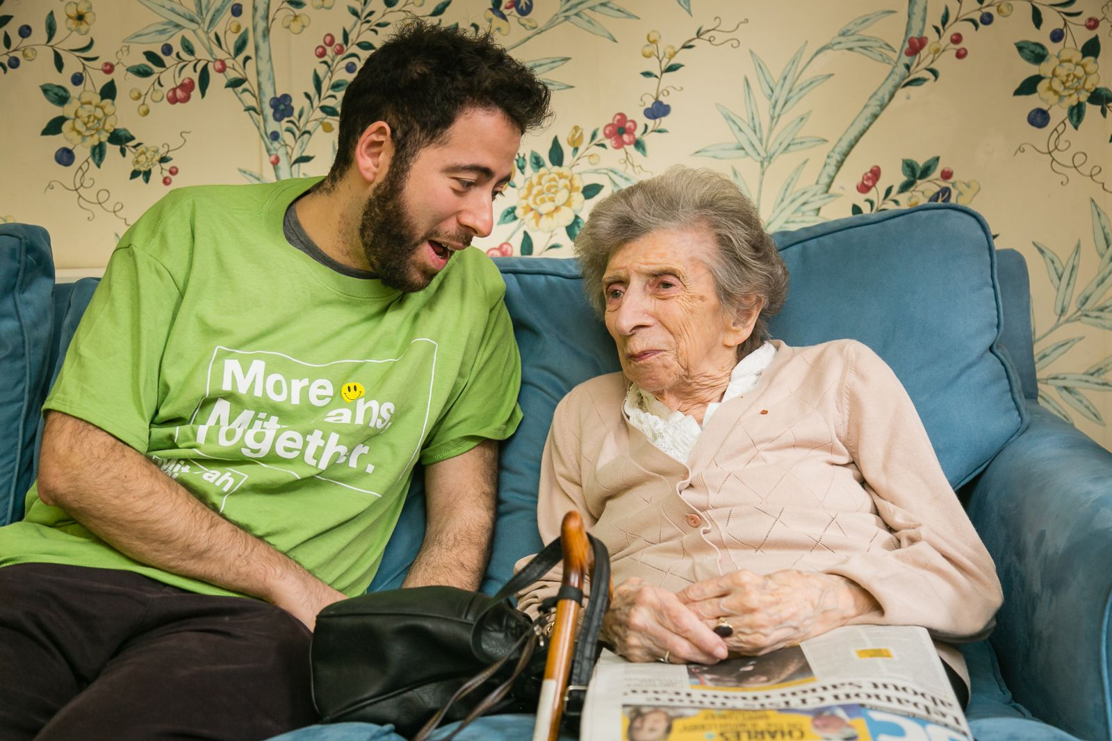 Camden Councillor Philip Rosenberg at Spring Grove Care Home - picture by Yakir Zur