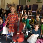 Cheder pupils from New North London (Masorti) Synagogue entertained tenants at Jewish Blind and Disabled's Frances & Dick James Court in Mill Hill East