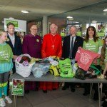 Keir Starmer, Bishop of Edmonton, Cardinal Nichols, Daniela Pears, Chief Rabbi and South Hampstead school children sorting clothes for the homeless - picture by Yakir Zur