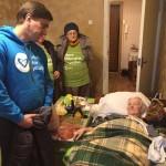 Minsk - Volunteers visti Ghetto survivors in Belarus