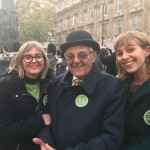 Mitzvah Day Founder Laura Marks with her father and daughter at the AJEX Parade in London