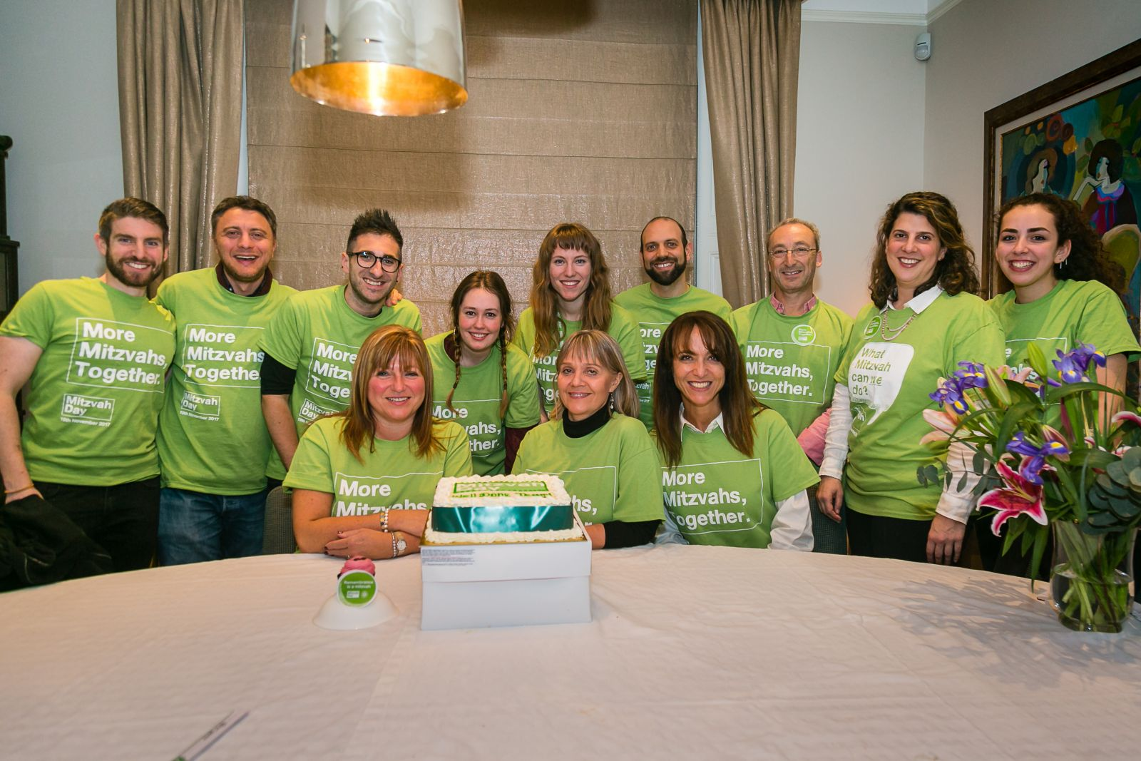 Mitzvah Day staff team and trustees celebrate the biggest and best MD yet - picture by Yakir Zur