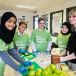 Muslim and Jewish pupils from JCOSS and Lady Nafisa schools cooking for the homeless for charity Sufra - picture by Yakir Zur