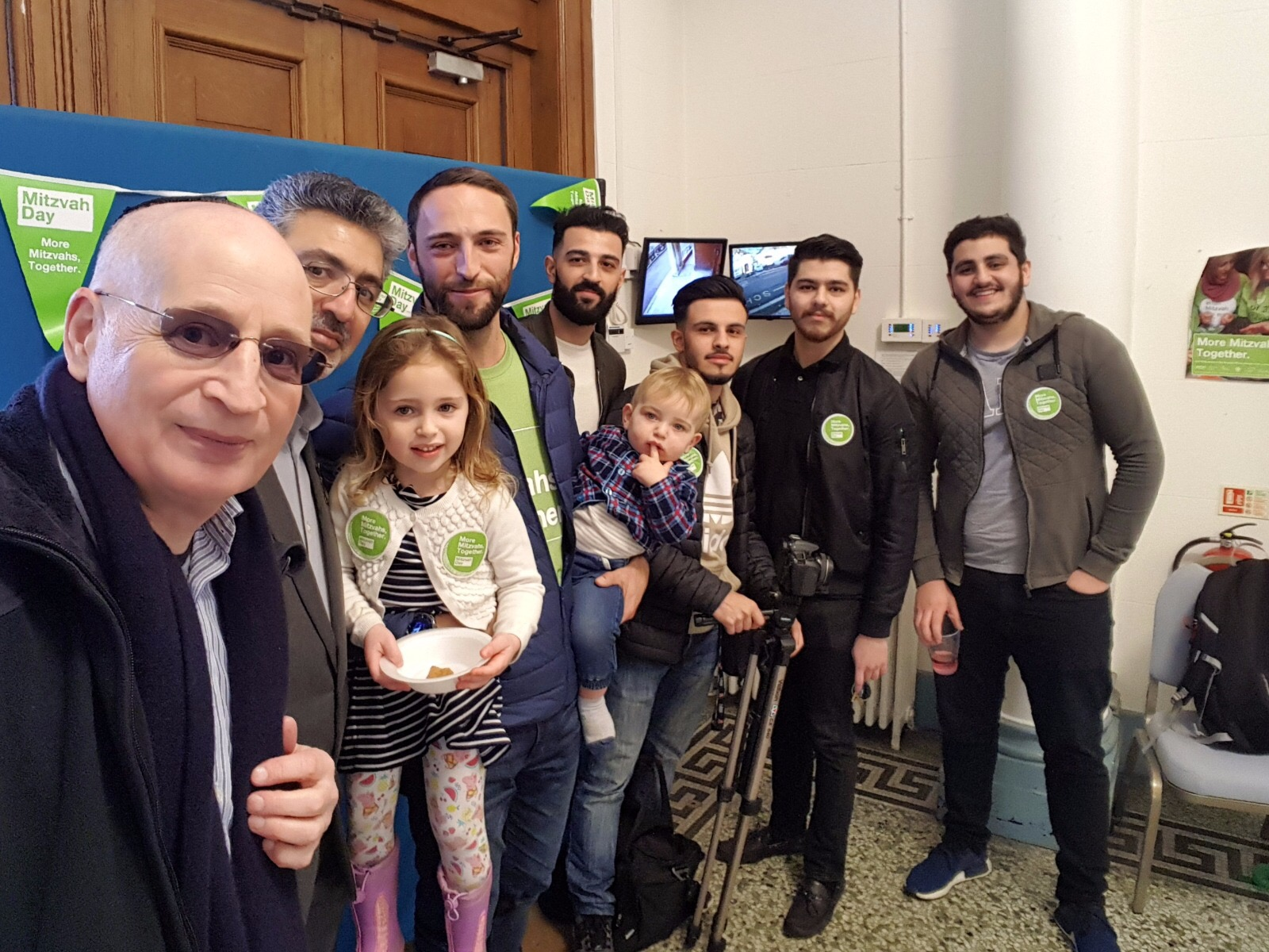 Muslims and Jews together to help others at Golders Green Synagogue - picture by Steven Derby:Interfaith Matters