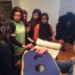 Syrian Refugee families were welcomed into Nottingham Liberal Synagogue along with children from other Muslim communities - pictured with Rabbi Rabbi Tanya Sakhnovich for a morning of activities