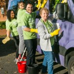 The Ilford Recorder staff team wash the Jewish Blind and Disabled minibus