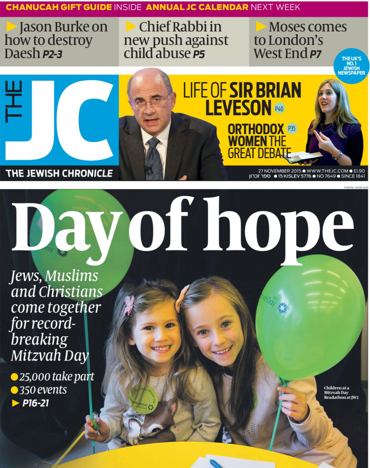 November 2015 - Mitzvah Day special editon of The Jewish Chronicle