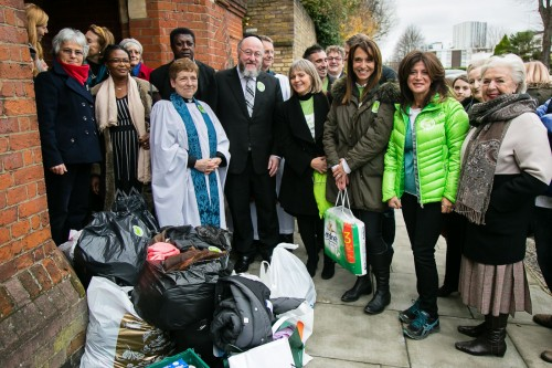 One of the three Mitzvah Day projects which Chief Rabbi Ephraim Mirvis took part in