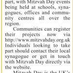 Mitzvah Day preview in the Essex Jewish News