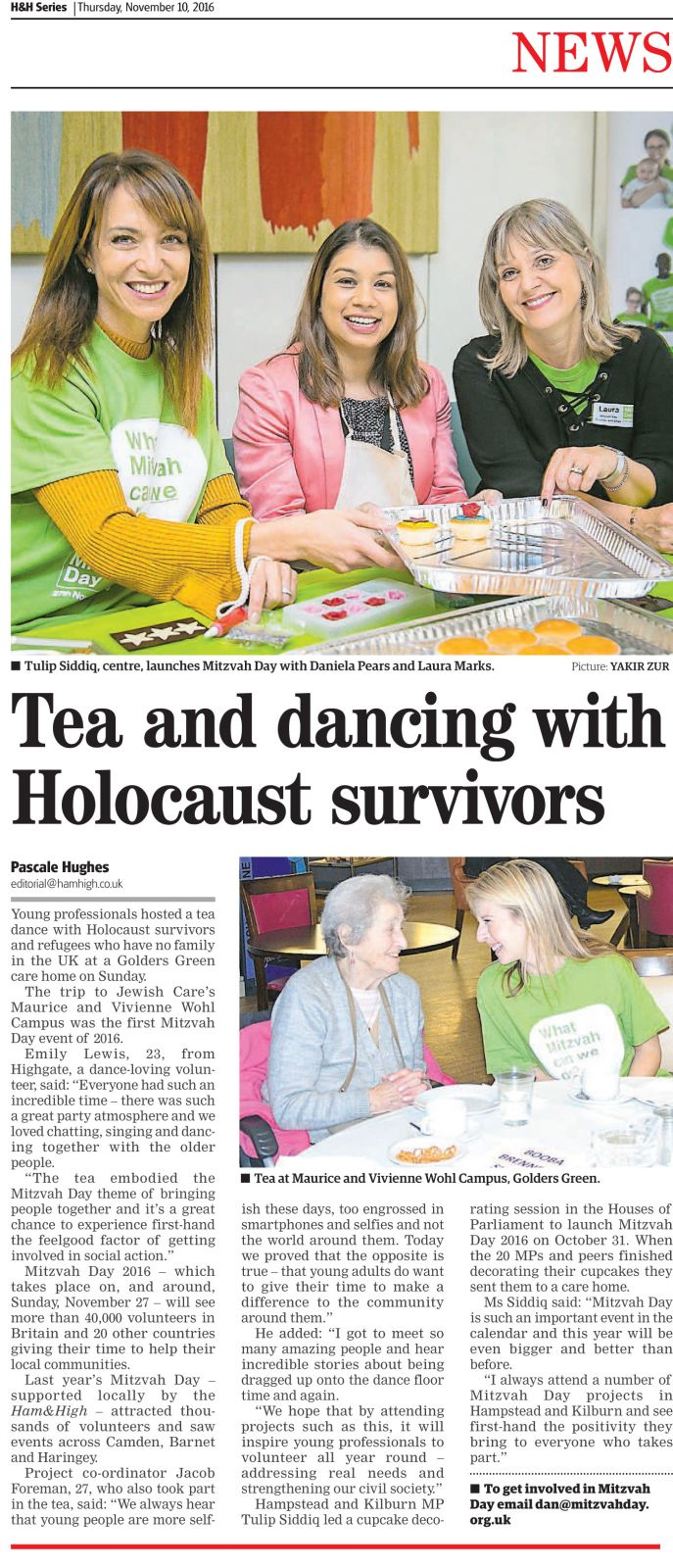 Ham & High on Mitzvah Day Launch