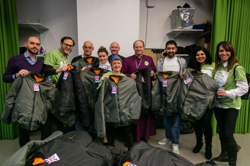 The Bishops of Edmonton and Rabbi Laura Janner-Klausner at JW3 clothing collection