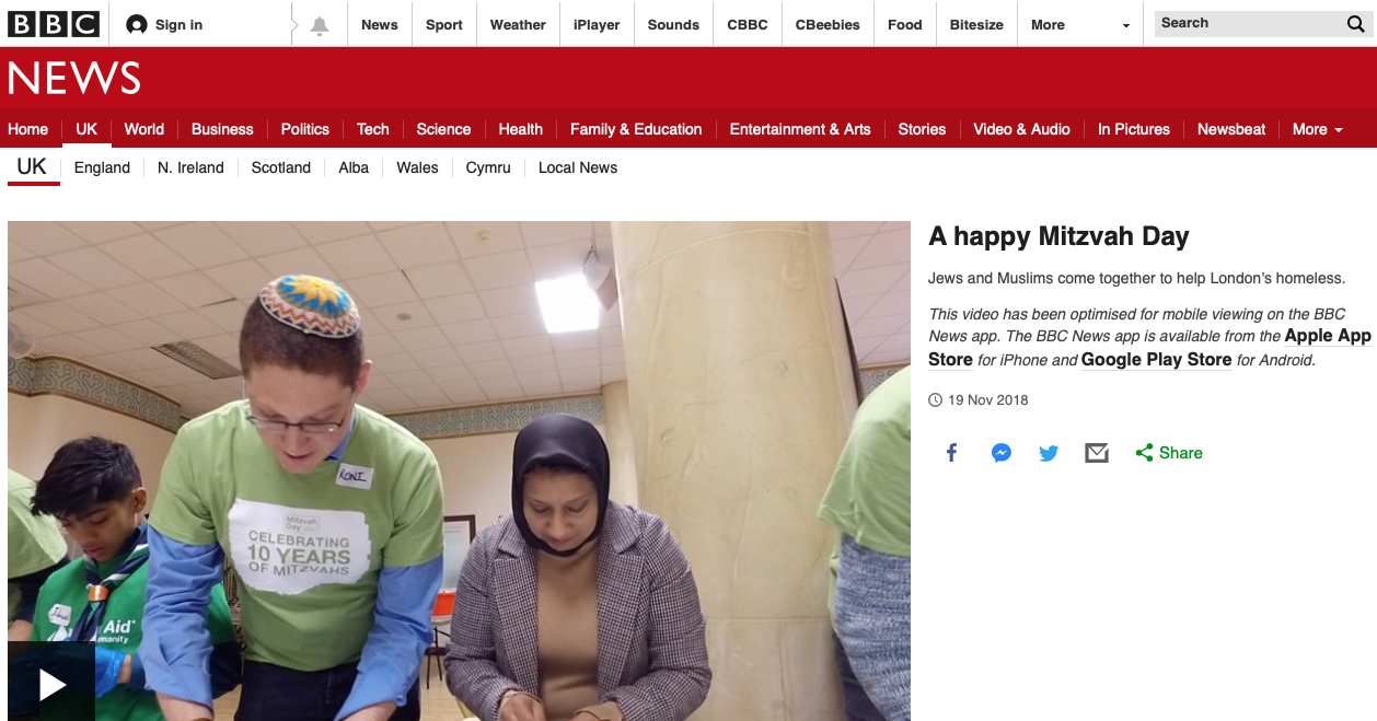 Mitzvah Day on the BBC