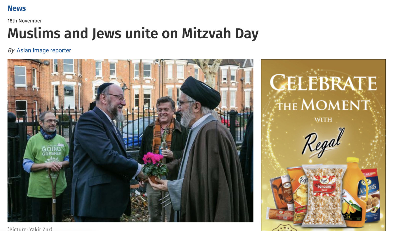 Lengthy Mitzvah Day feature in Asian Image