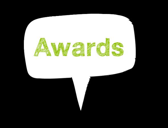 Awards speech bubble