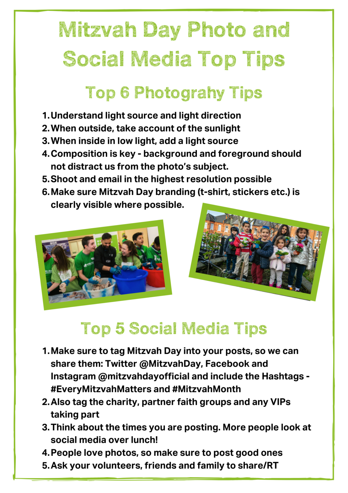 How To Take Great Photos and Share Them!